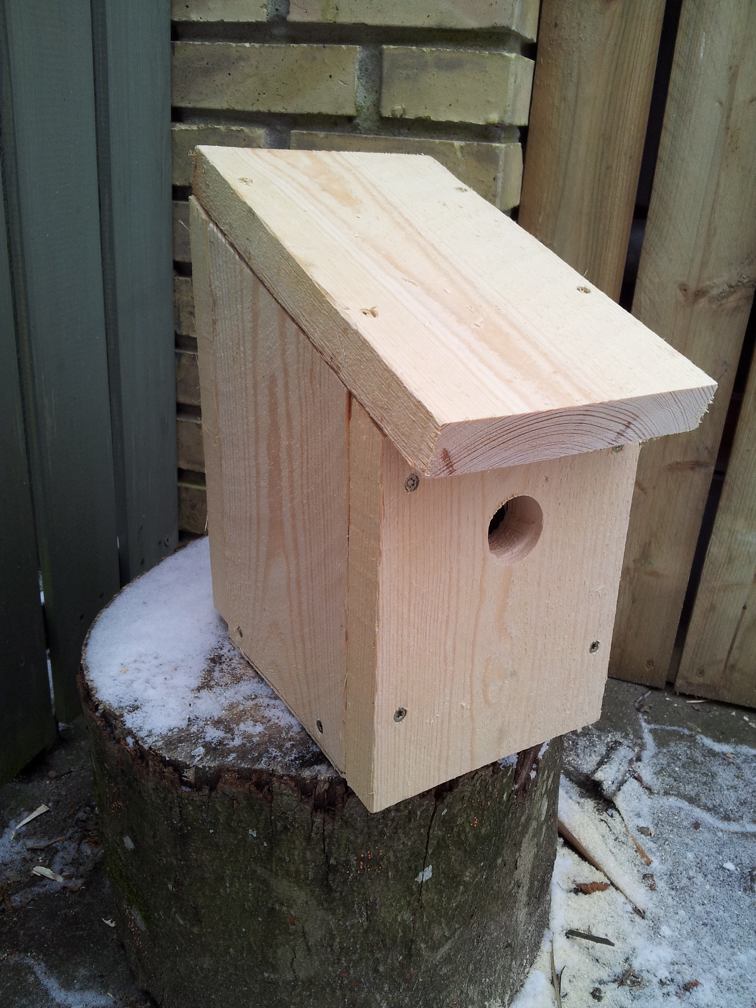 Færdig fuglekasse
